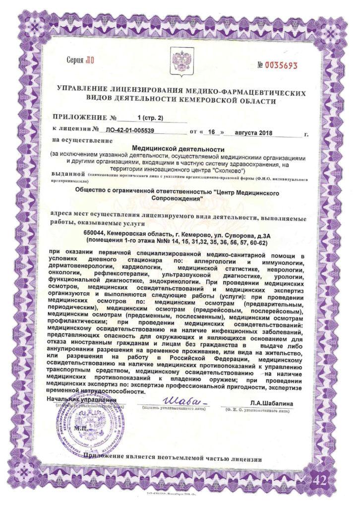 Лицензия ЛО-42-01-005625