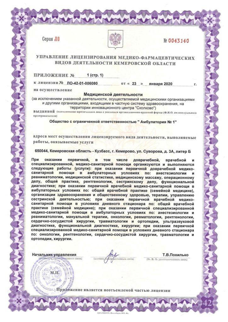 Лицензия ЛО-42-01-006080